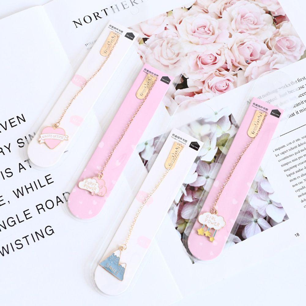 1PCS Novelty Cherry Sakura Pendant Bookmark Student Stationery School Office Supply