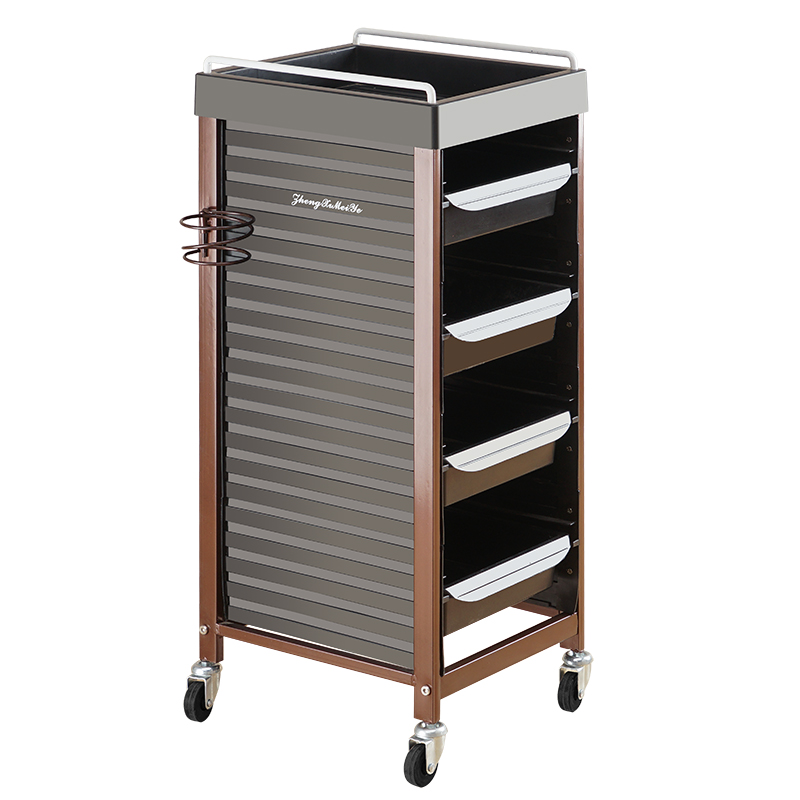 Beauty Cart Hair Perrinated Cart Hair Salon Tool Car Five-story Bar Car Barber Shop Trolley Tool Cabinet