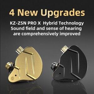 Image 5 - Kz Zsn Pro Наушники вкладыши 1ba + 1dd гибридные технологии Hifi бас металлические наушники вкладыши Наушники спортивный шум Bluetooth кабель для ZSX ZAX