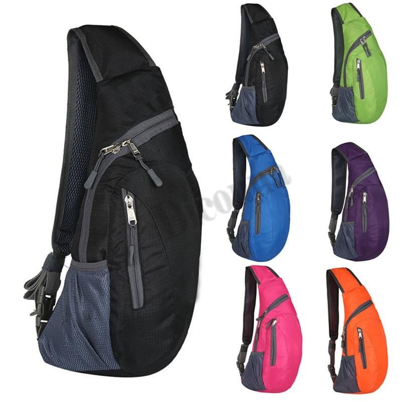 Men Chest Bag Pack Waterproof Travel Sport Cross Body Shoulder Sling Chest Bag Mountaineering Mobile Phone Bag Waist Packs