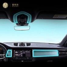 Para porsche macan 2014-2020carro interior console central transparente tpu película protetora anti-risco reparação filme reequipamento accessorie