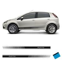 2 PCS Racing Side Stripes Fahrzeug Decals Aufkleber Auto Vinyl Grafiken Für Fiat Punto Abarth-in Autoaufkleber aus Kraftfahrzeuge und Motorräder bei
