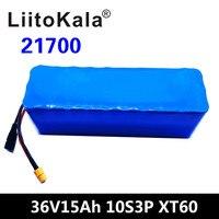 LiitoKala 36V 15Ah 배터리 21700 5000mah 10S3P 배터리 팩 500W 높은 전원 배터리 42V 15000mAh Ebike 전기 자전거 BMS XT60