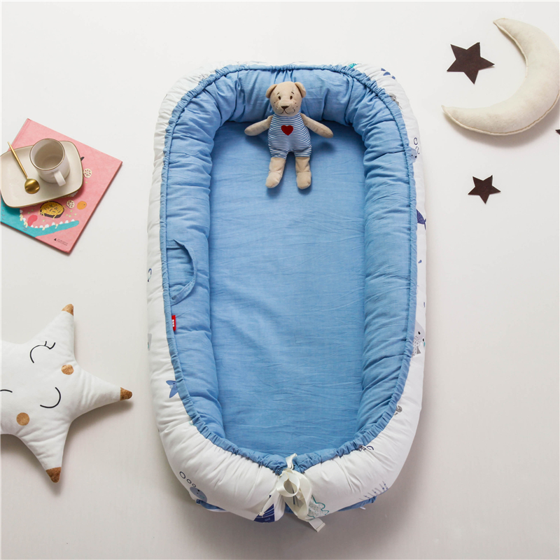 Portable Baby bionic bed Nest Toddler Cotton Cradle Baby Bassinet Bumper Foldable Sleeper Pillow Cushion