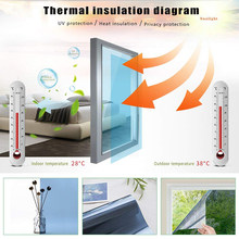 One-way Explosion-proof Film Thermal Insulation Film UV Protection Window Glass Sunscreen Waterproof For Homes And Offices