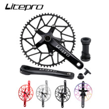 Chainwheel Shaft Crank Bike Bicycle Litepro Tooth Single-Chainring Hollow Sprocket Negative