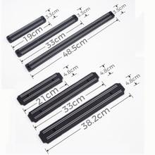 Магнитный держатель для ножей, настенный черный АБС-пластик, металлический нож из нержавеющей стали, магнитный держатель для ножей Кухня, инструменты