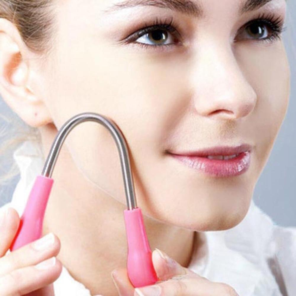 Полезный эпилятор для лица, пружинная палочка, для депиляции, для бритья, безопасный, ручной, из нержавеющей стали, для удаления волос
