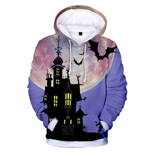 New fashion Halloween 3D printing mens / childrens hoodies clothing casual