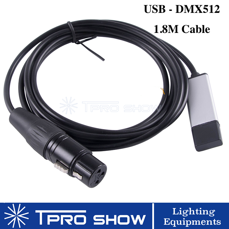 Mini Stage Light <font><b>USB</b></font> DMX Interface Adapter Cable 1M 1.8M DJ Lights PC <font><b>DMX512</b></font> Controller Dimmer <font><b>USB</b></font> DMX Signal Conversion Wire image