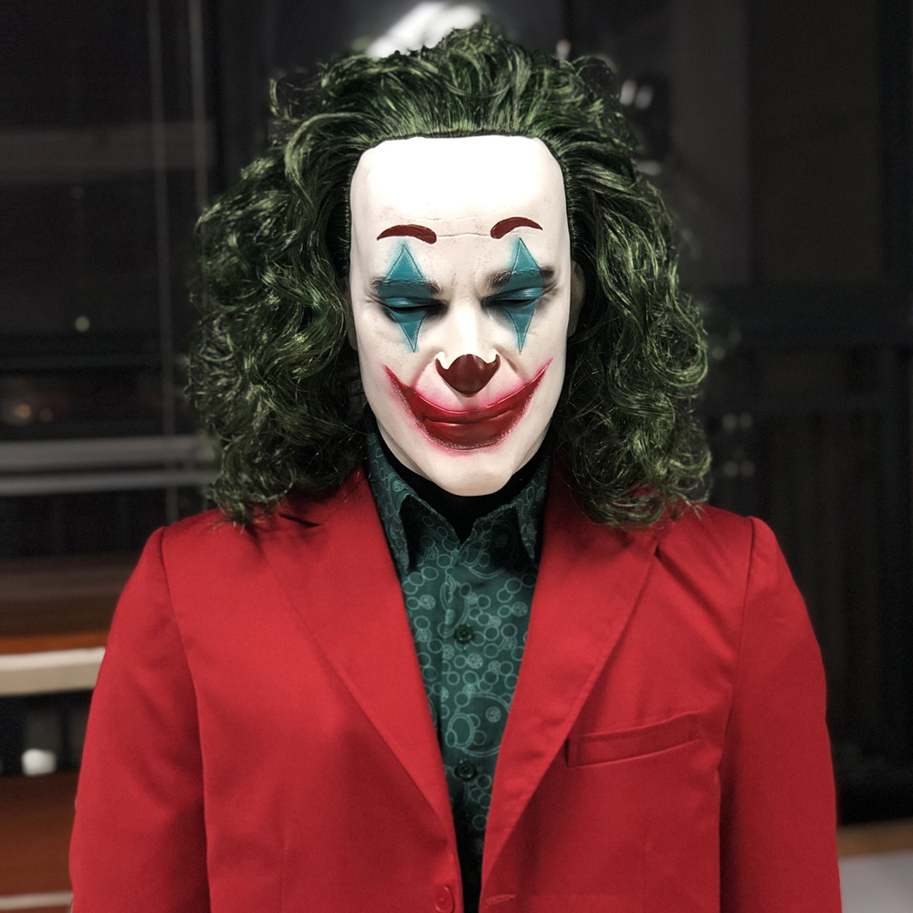 Joker Joaquin Phoenix Cosplay Costume Joker Origin Movie Arthur Fleck Mask Suit Costumes Halloween Carnival Party Props 2019