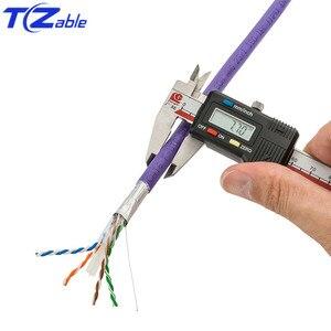 Image 3 - สายเคเบิลเครือข่าย Cat6 ทองแดงบริสุทธิ์ SHIELDED Twisted Pair Ethernet สำหรับสายอินเทอร์เน็ต RJ45 สายเคเบิลเครือข่าย FTP สายคอมพิวเตอร์