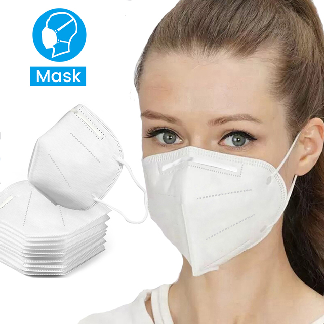 100pcs Pm2.5 N95 Dust Mask 3 Layers Filter Respirator Face Mask KN95 Mask Anti Flu Infection N95 Mask same as FFP2 mascherine 1
