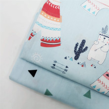 Cute Bear Printed Cotton Twill Fabric Soft Pure High Quality Home Textile Material DIY Sewing Patchwork Bedding