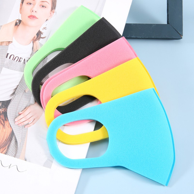 10PCS Kids Dust-proof PM2.5 Mouth Mask  PU Sponge Washable Mouth Cover for Children Breathable Respirator Face Mouth Masks 4