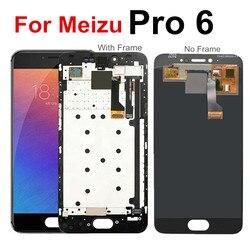 Dla Meizu Pro 6 wyświetlacz LCD z ekran dotykowy wymiana Digitizer dla Meizu Pro 6 pro6 LCD z ramką M570M M570H
