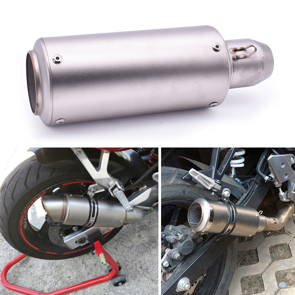 51mm 61mm Motorcycle pipe <font><b>exhaust</b></font> with DB killer <font><b>Exhaust</b></font> Pipe Muffler For Honda <font><b>cbr</b></font> 600 f 650f 900 rr <font><b>250</b></font> r 500r 600rr 600 rr image