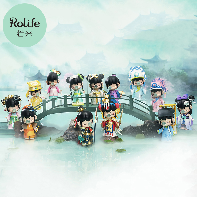 Robotime Rolife Nanci Ⅲ Whole Set Blind Box Action Figure Toys Chinese History King Beauty Love Story Character Model Gift