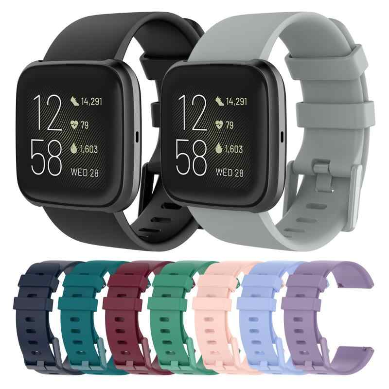 Smart Pols Armband Polsbandje Siliconen Connector Riem Voor Fitbit Versa 2 Band Band Vervanging Siliconen Band