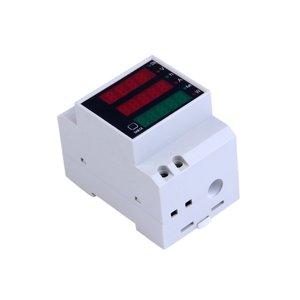 Ac 80-300V 0-100A Ampèremeter Voltmeter Din Rail Led Volt Amp Meter Display Actieve Power Factor Tijd Energie spanning Stroom