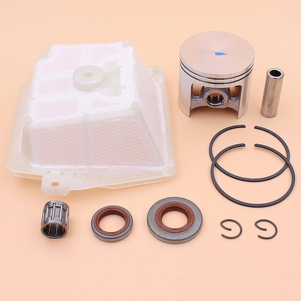 47mm Piston Pin Ring Circlip Oil Seal Kit For Stihl MS361 MS341 MS 361 341 Chainsaw 1135 030 2000, 1135 120 1601, 9640 003 1600