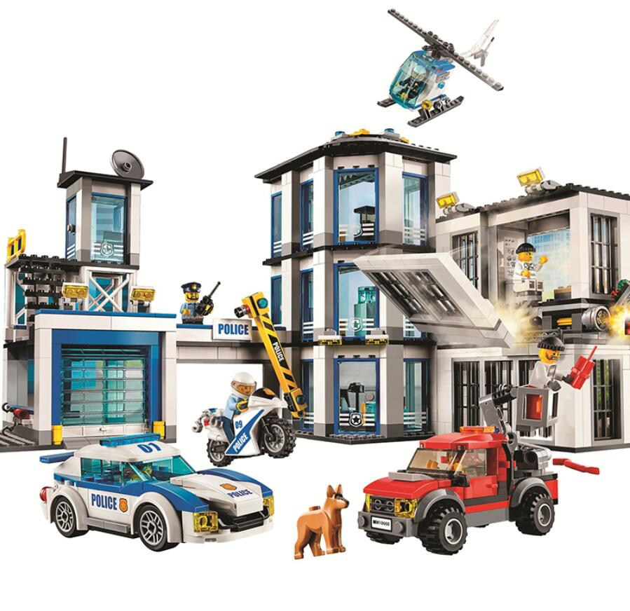 965Pcs City Series Compatible With Legoing Police Station Set Boy Girl Building Blocks Bricks Toys For Children Christmas Gifts