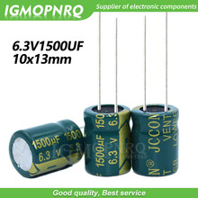 10PCS 6.3V1500UF 10*13mm igmopnrq Aluminum electrolytic capacitor high frequent low impedance 10x13mm