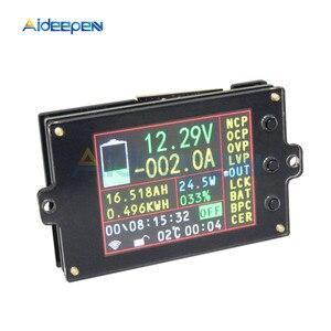 80V 500A Display LCD Colorido Bateria Coulomb Capacidade Detector Contador DC Voltímetro Amperímetro Wattímetro DC Medidor De Potência De Energia