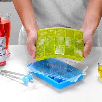 Tacka do lodu 15 otworów DIY Ice forma kostki tacka silikonowa forma kostki lodu akcesoria kuchenne taca na kostki lodu z pokrywką kostkarka do lodu tanie i dobre opinie Lody wanny Z tworzywa sztucznego Ce ue Lfgb Making DIY Chocolate Ice Cube Etc Silica Gel 15ML Square