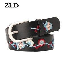 ZLD cinture ricamate moda donna elegante cintura fiore per Jeans cinture corsetto per accessori abito donna cintura pugno