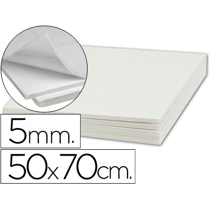 PEN CARTON LIDERPAPEL ADHESIVE 1 SIDED 50X70 CM THICKNESS 5 MM 10 Units