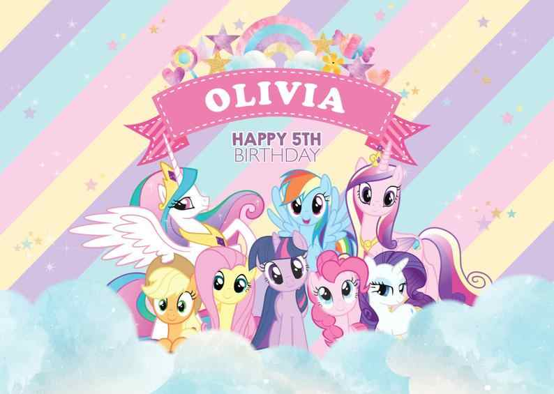 My Little Pony Backdrop Birthday Party Rainbow Event Photo ...