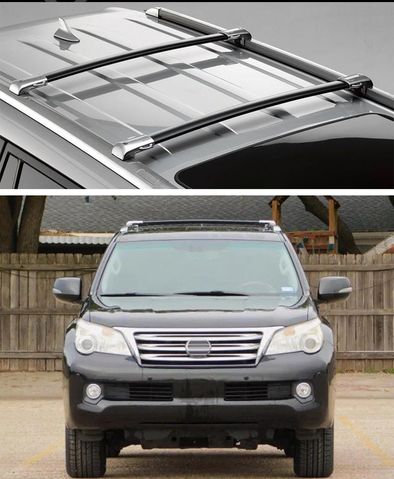 for lexus gx gx460 gx480 2010 2019 new arrival oe style roof rack roof rail cross bar thicken aluminum alloy guarantee quality