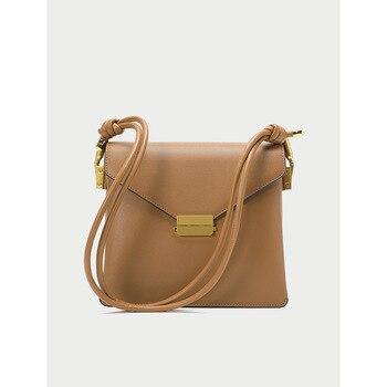 Designer Concise Exquisite Genuine Leather Vintage Shoulder Bag Mini Flap Crossbody Bag Handbag for Women &Girls Fashion