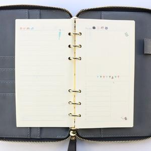Image 5 - Domikee 2020 nowy zamek skórzany osobisty binder planner agenda planer organizer notatnik, grzywny 6 pierścieni binder terminarz A6