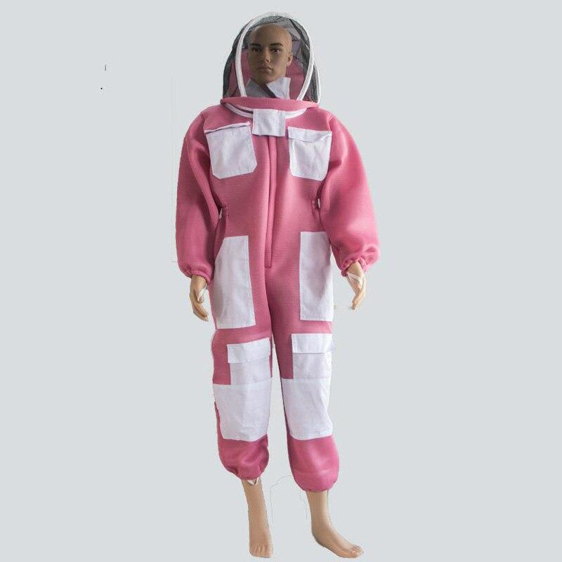Pink Unisex Protective Clothing Beekeeper Portable Bee Set Thorn Protective Clothing Cleaning Work Wear Beekeeping ClothingDFW79