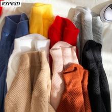 Мужские шерстяные пуловеры половина высокий воротник сплошной цвет кашемировый свитер мужчины толстые высокое качество с длинным рукавом свободного покроя человек