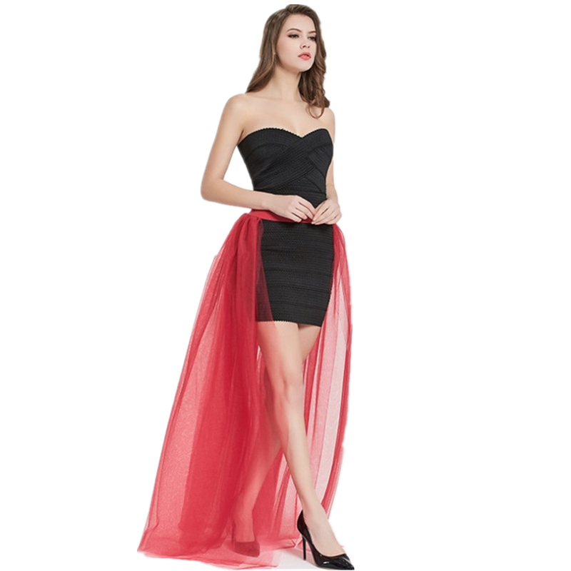 Sexy Perspective 4 Layer Mesh Super Large Swing Half Pack Women's Tulle Skirt