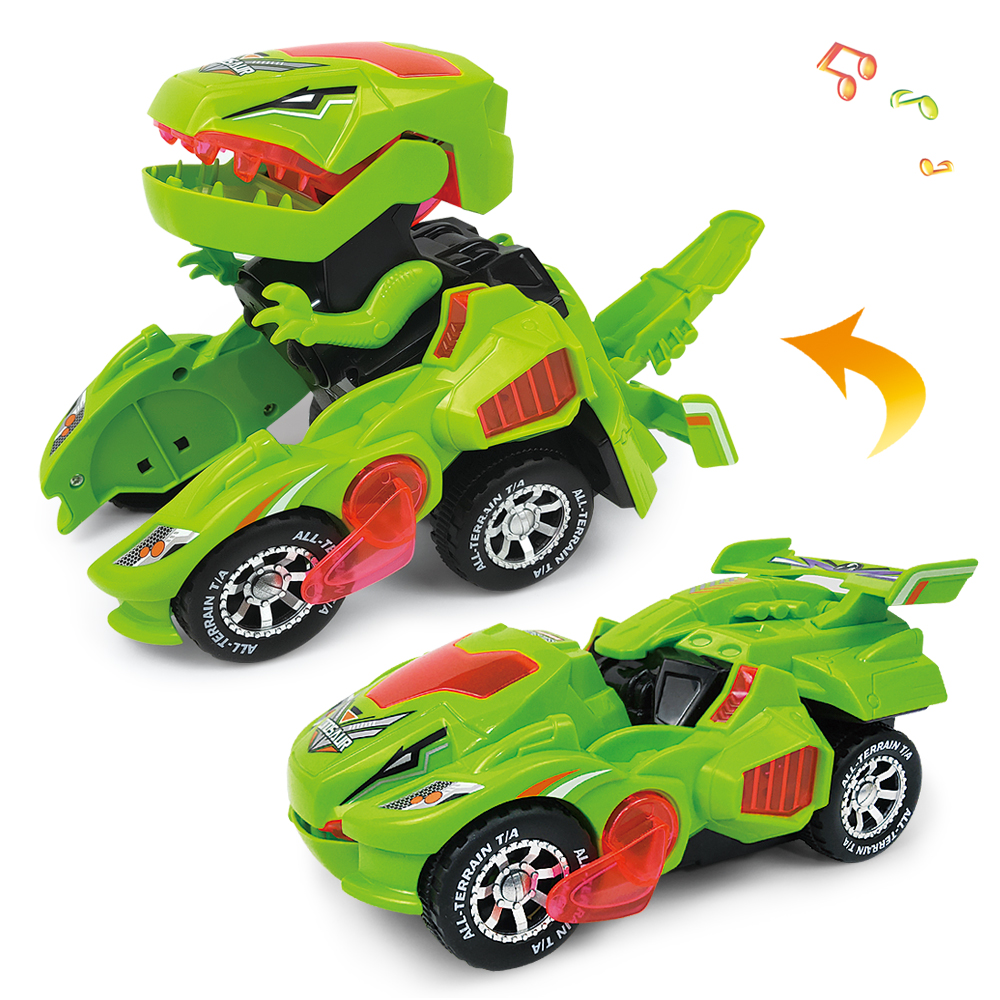 Newest Deformation Electric Dinosaur Car Toy Universal Wheel Deform Robot For Gift For Kids High Quality