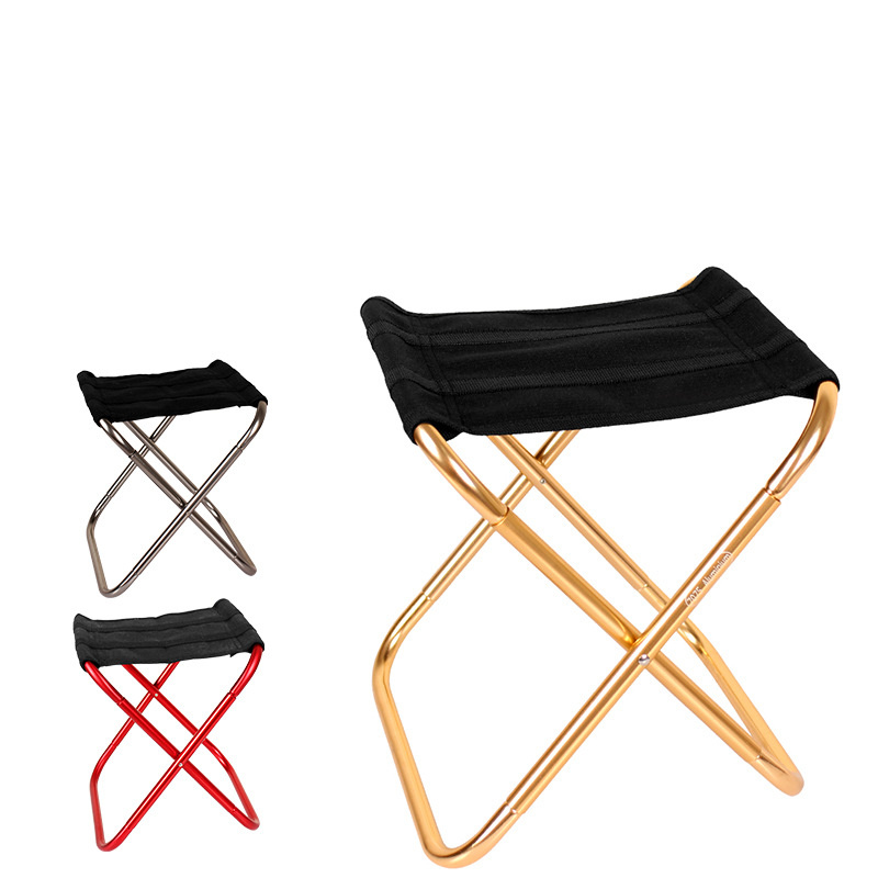 Outdoor Camping Chairs Folding Lightweigth Portable Chair Aluminum Fishing Mini Chairs Hiking Travel Tools