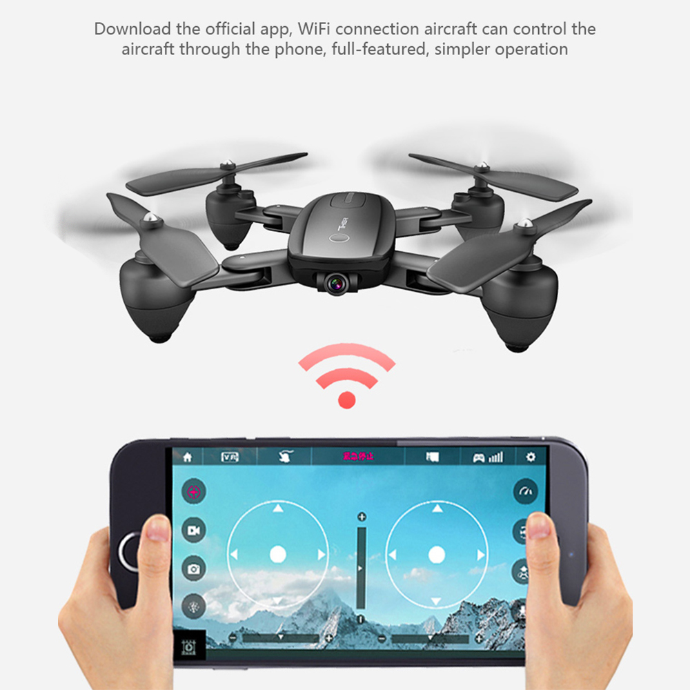 2019 New Drone optical flow hover folding fixed high drone HD aerial photography 1080p wifi fpv professional Rc helicopter in RC Helicopters from Toys Hobbies