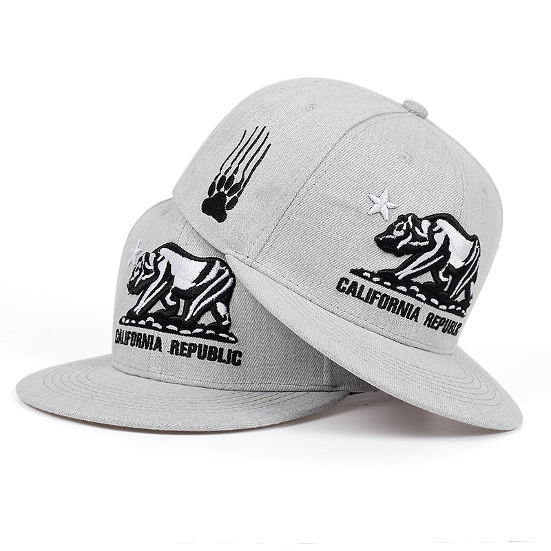 2019 CALIFORNIA REPUBLIC embroidered baseball cap fashion flat snapback caps outdoor shade hip hop hats men women universal hat