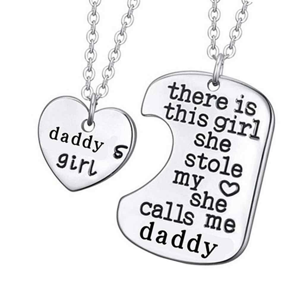 2020 جديد 2 قطعة/المجموعة عُقد على شكل قلب فتاة الأب الأسرة القلائد مجوهرات ديكور التبعي الحلو هدية للأسرة