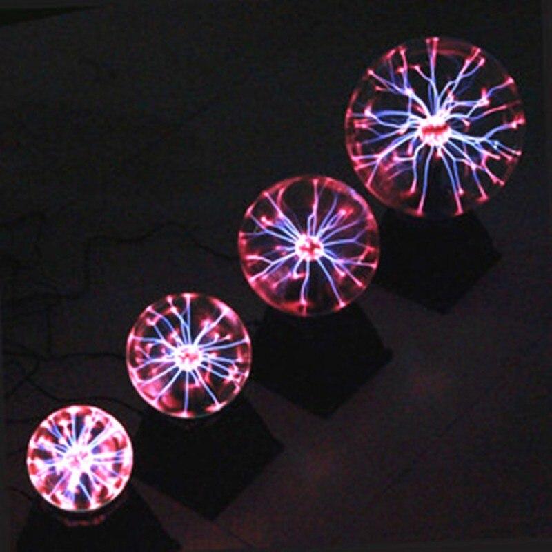 Touching Sensor Magic Plasma Ball Vocie Control Crystal Lamp Creative Light Graduation Kid Birthday Decor
