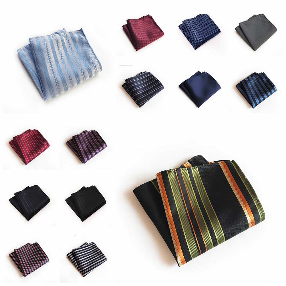 Men's Classic Polka Dot Striped Silk Handkerchief Pocket Square Fashion Men Hanky For Wedding Party Chest Towel 25*25CM
