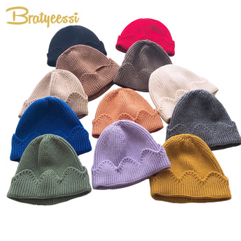 New Crown Baby Hat Knitted Kids Cap for Girls Boys Hats Warm Winter Baby Beanie Toddler Bonnet Enfant Cap 1-3Y 1PC 6 36m winter baby girls boys kids cartoon knitted hats soft supper warm crochet cap earflap toddler infant hat children beanie