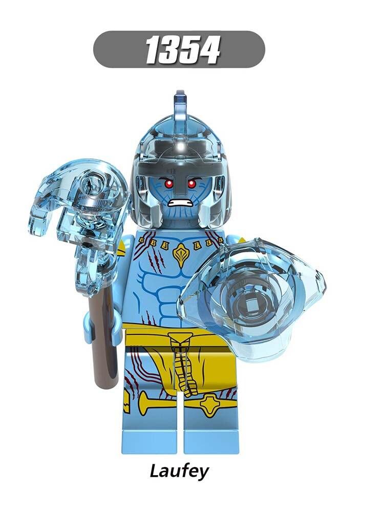 Single Sale Minifigured Marvel LEGOINGLYs Enlighten Avengers Odin Laufey Thor  Building Blocks Action Toys Baby GIfts X0269