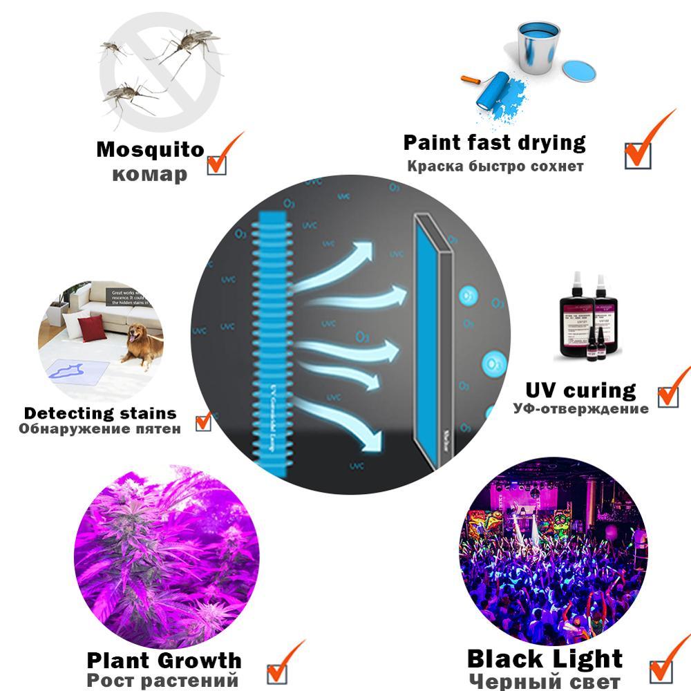 Купить с кэшбэком Christmas UV LED Black Light Ultraviolet Lamp Dance Party Dark Aquarium Body Paint Fluorescent Poster Curing Halloween Detector