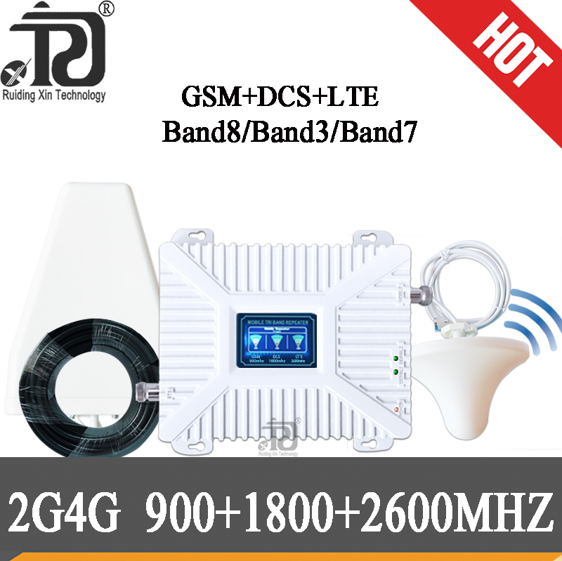 Cellular Amplifier 900/1800/2600 DCS LTE GSM 2G 3G 4G Mobile Signal Booster 4g 1800 2600MHZ Repeater 900 GSM Cellular Amplifier