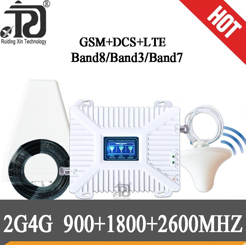 Cellular Amplifier 900/1800/2600 DCS LTE GSM 2G 3G 4G Mobile Signal Booster 4g 1800 2600MHZ Repeater 900 GSM Cellular Amplifier